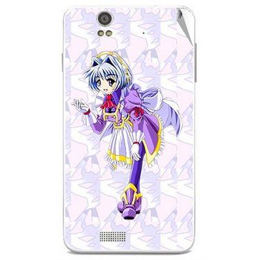 Snooky 48841 Digital Print Mobile Skin Sticker For Lava Iris X5 - Purple