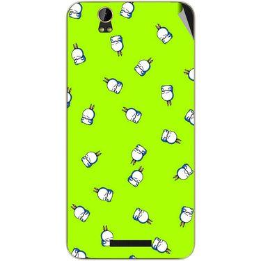 Snooky 48864 Digital Print Mobile Skin Sticker For Lava Iris X1 Grand - Green