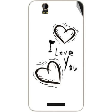 Snooky 48867 Digital Print Mobile Skin Sticker For Lava Iris X1 Grand - White