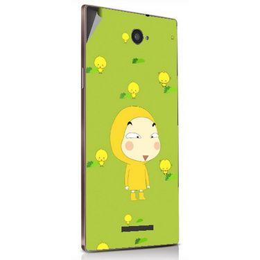 Snooky 48883 Digital Print Mobile Skin Sticker For Lava Magnum X604 - Green