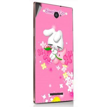Snooky 48887 Digital Print Mobile Skin Sticker For Lava Magnum X604 - Pink