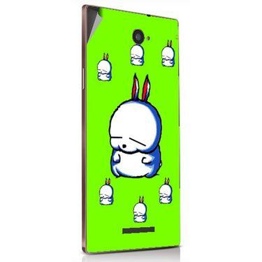 Snooky 48892 Digital Print Mobile Skin Sticker For Lava Magnum X604 - Green