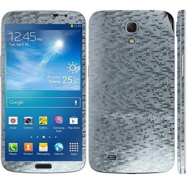 Snooky 18282 Mobile Skin Sticker For Samsung Galaxy Mega 6.3 GT I9200 - Silver
