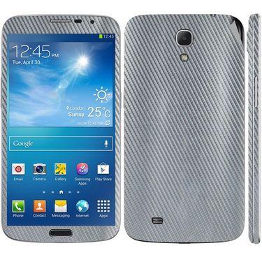 Snooky 18285 Mobile Skin Sticker For Samsung Galaxy Mega 6.3 GT I9200 - Silver