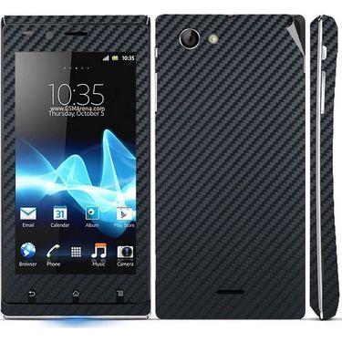 Snooky 18754 Mobile Skin Sticker For Sony Xperia J - Black