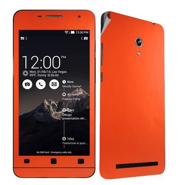 Snooky 20538 Mobile Skin Sticker For Asus Zenfone 6 - Orange