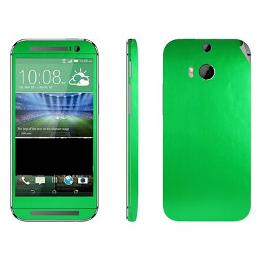 Snooky 20563 Mobile Skin Sticker For Htc One M8 - Green