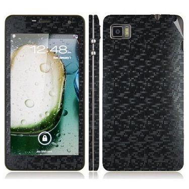 Snooky 20701 Mobile Skin Sticker For Lenovo K860 - Black