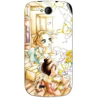 Snooky 42511 Digital Print Mobile Skin Sticker For Micromax Canvas Elanza A93 - White