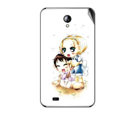 Snooky 42563 Digital Print Mobile Skin Sticker For Micromax Superfone A101 - White