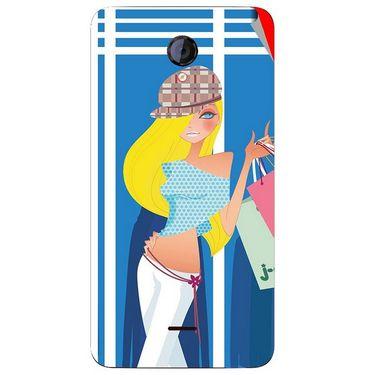 Snooky 42597 Digital Print Mobile Skin Sticker For Micromax Unite 2 A106 - Blue