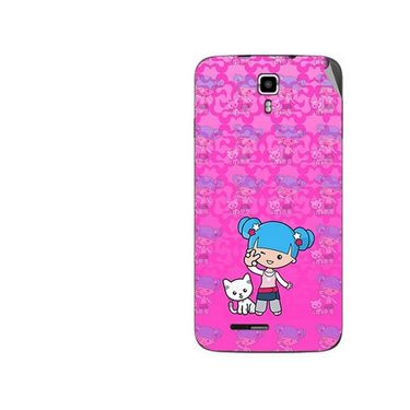 Snooky 42693 Digital Print Mobile Skin Sticker For Micromax Canvas Juice A177 - Pink