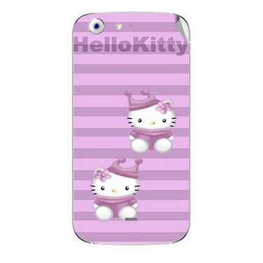 Snooky 42711 Digital Print Mobile Skin Sticker For Micromax Canvas 4 A210 - Pink