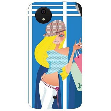Snooky 42795 Digital Print Mobile Skin Sticker For Micromax A1 Android One - Blue