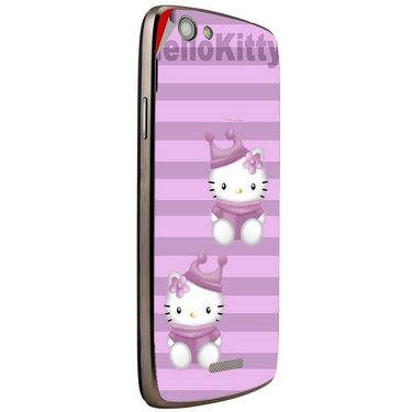 Snooky 42887 Digital Print Mobile Skin Sticker For XOLO A510s - Pink