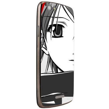Snooky 42890 Digital Print Mobile Skin Sticker For XOLO A510s - Grey