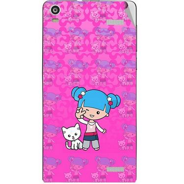 Snooky 42924 Digital Print Mobile Skin Sticker For XOLO A1000S - Pink
