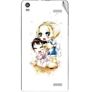 Snooky 42926 Digital Print Mobile Skin Sticker For XOLO A1000S - White