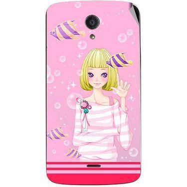 Snooky 42939 Digital Print Mobile Skin Sticker For Xolo Omega 5.0 - Pink
