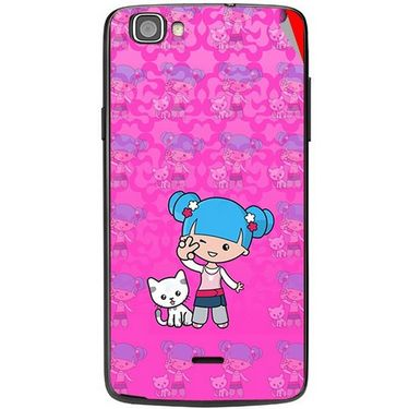 Snooky 42968 Digital Print Mobile Skin Sticker For Xolo One - Pink