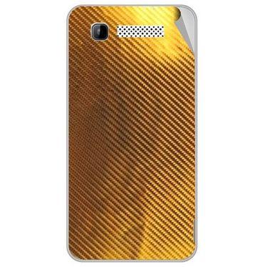 Snooky 43149 Mobile Skin Sticker For Intex Aqua 3g - Golden