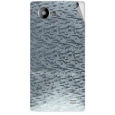 Snooky 43229 Mobile Skin Sticker For Intex Aqua HD - silver