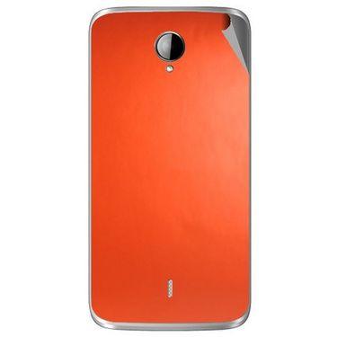 Snooky 43286 Mobile Skin Sticker For Intex Aqua i14 - Orange