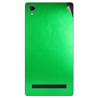 Snooky 43396 Mobile Skin Sticker For Intex Aqua Power Plus - Green