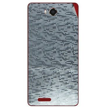 Snooky 43469 Mobile Skin Sticker For Intex Aqua Star Hd - silver