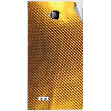 Snooky 43545 Mobile Skin Sticker For Intex Aqua Y2 - Golden