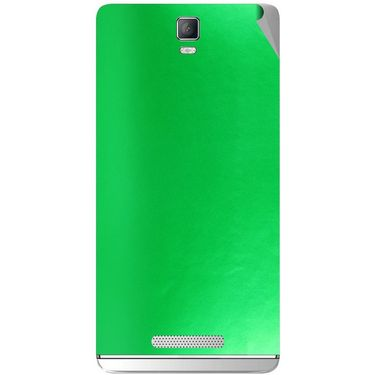 Snooky 43720 Mobile Skin Sticker For Lava Iris Fuel 50 - Green