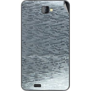 Snooky 43769 Mobile Skin Sticker For Lava Iris 502 - silver
