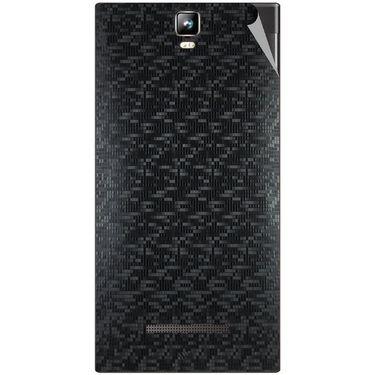 Snooky 43788 Mobile Skin Sticker For Lava Iris 504Q Plus - Black