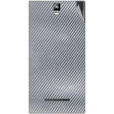 Snooky 43794 Mobile Skin Sticker For Lava Iris 504Q Plus - silver