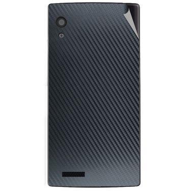 Snooky 43795 Mobile Skin Sticker For Lava Iris Fuel 60 - Black