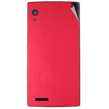 Snooky 43798 Mobile Skin Sticker For Lava Iris Fuel 60 - Red