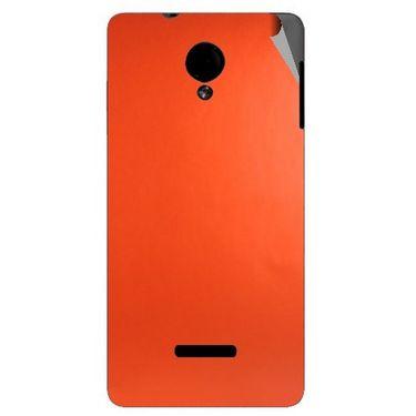 Snooky 43946 Mobile Skin Sticker For Micromax Canvas Fun A74 - Orange