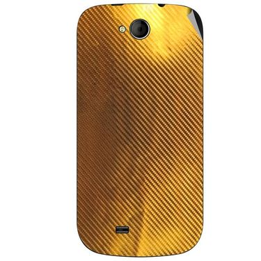 Snooky 44037 Mobile Skin Sticker For Micromax Canvas Elanza A93 - Golden