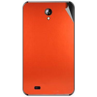 Snooky 44090 Mobile Skin Sticker For Micromax Superfone A101 - Orange
