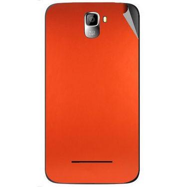 Snooky 44126 Mobile Skin Sticker For Micromax Canvas Entice A105 - Orange