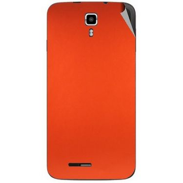 Snooky 44234 Mobile Skin Sticker For Micromax Canvas Juice A177 - Orange