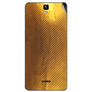 Snooky 44241 Mobile Skin Sticker For Micromax Canvas HD plus A190 - Golden