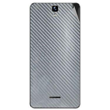 Snooky 44250 Mobile Skin Sticker For Micromax Canvas HD plus A190 - silver