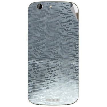 Snooky 44297 Mobile Skin Sticker For Micromax Canvas A300 - silver