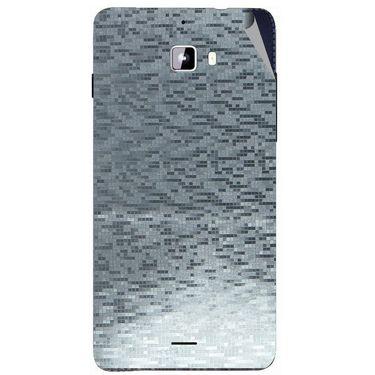 Snooky 44309 Mobile Skin Sticker For Micromax Canvas Nitro A310 - silver