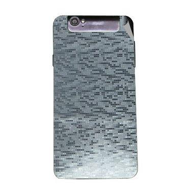 Snooky 44717 Mobile Skin Sticker For Xolo Q3000 - silver