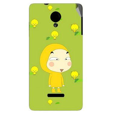 Snooky 45909 Digital Print Mobile Skin Sticker For Micromax Canvas Fun A74 - Green