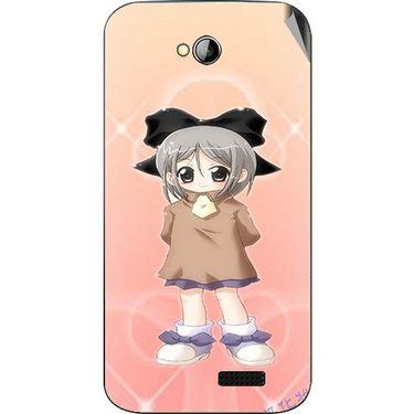 Snooky 45992 Digital Print Mobile Skin Sticker For Micromax Bolt A089 - Orange