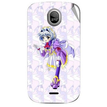 Snooky 46027 Digital Print Mobile Skin Sticker For Micromax Ninja A89 - Purple