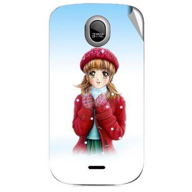 Snooky 46028 Digital Print Mobile Skin Sticker For Micromax Ninja A89 - White